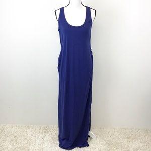Old Navy Blue Maternity Maxi Dress